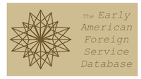 Compass Rose in light brown; text reads 'The Early American Foreign Service Database'